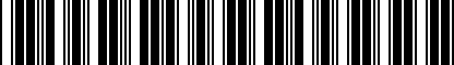 Barcode for 200170277