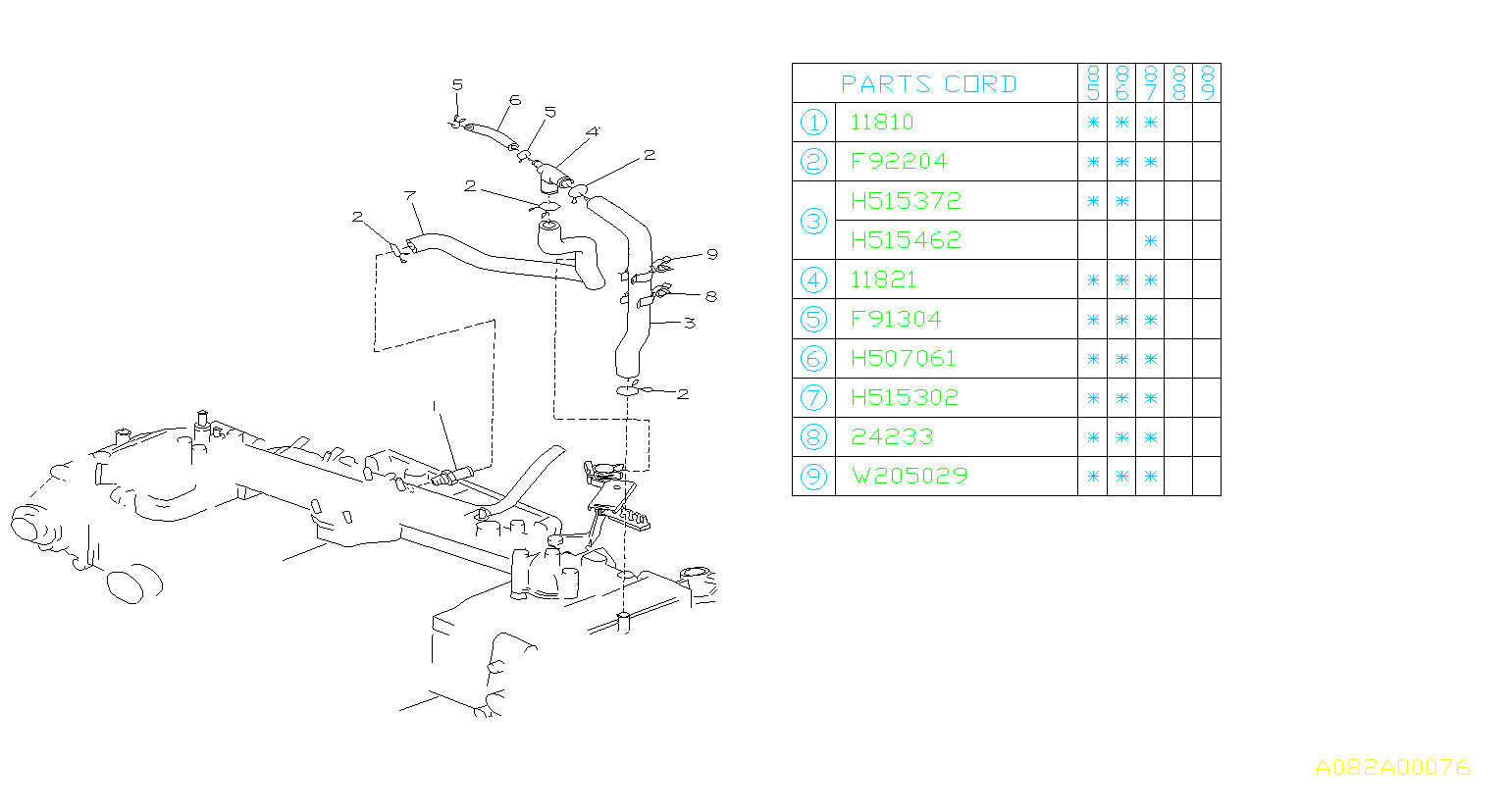 11810aa000 - valve complete-control  manifold  intake  pcv