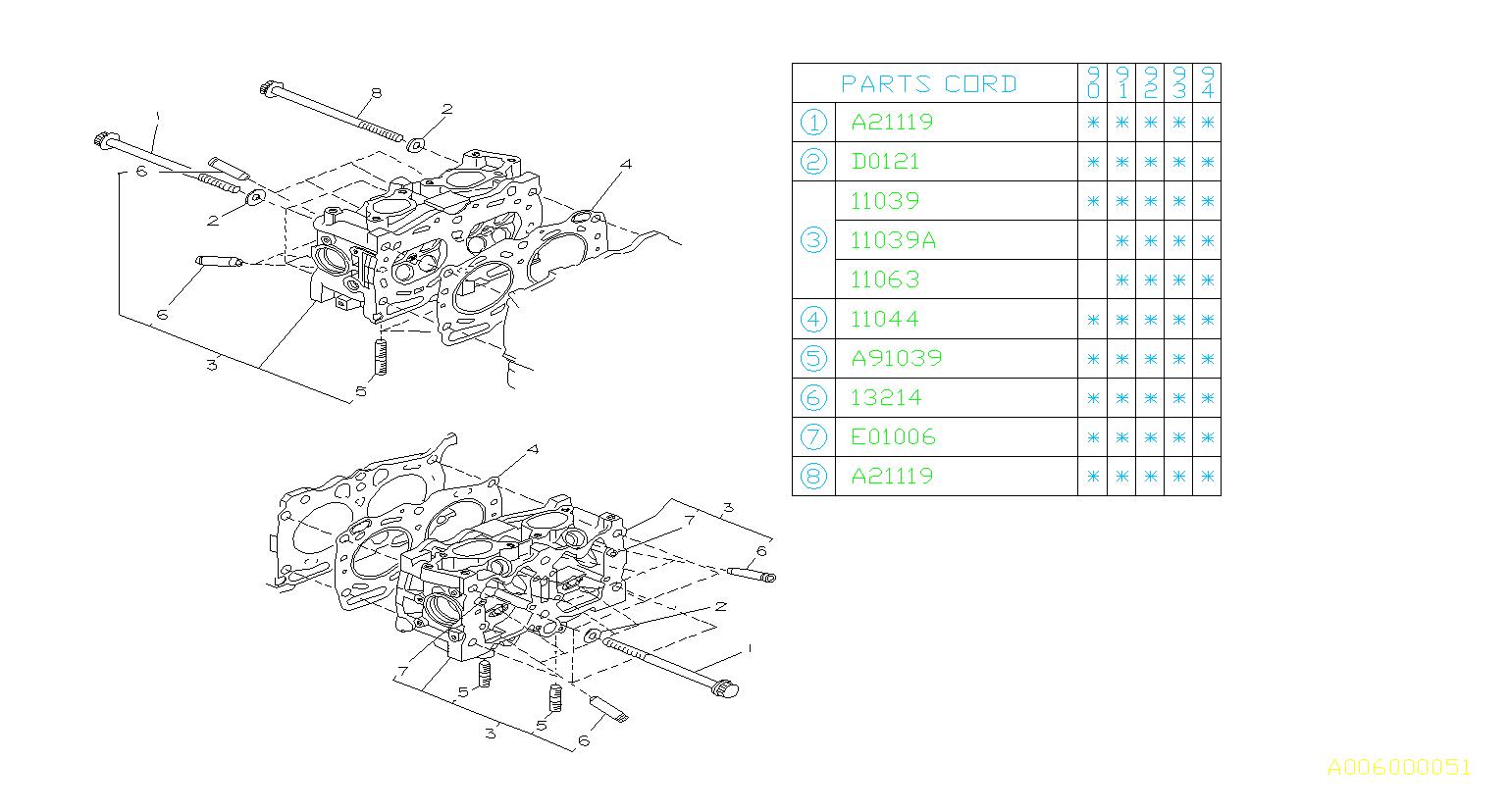 11095aa141 - Engine Cylinder Head Bolt
