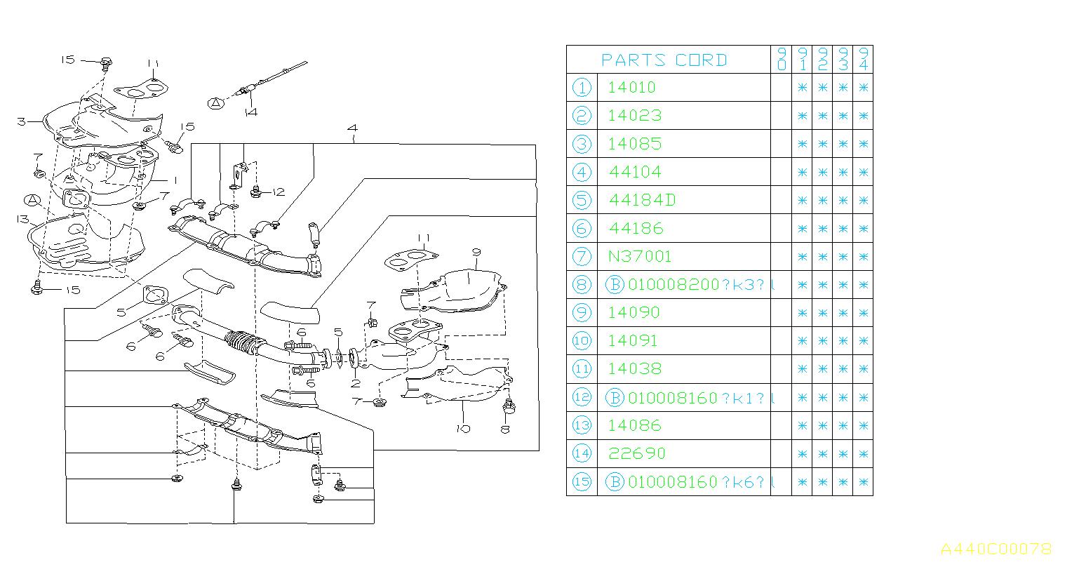 44022AA160 - Catalytic Converter Gasket - Genuine Subaru Part
