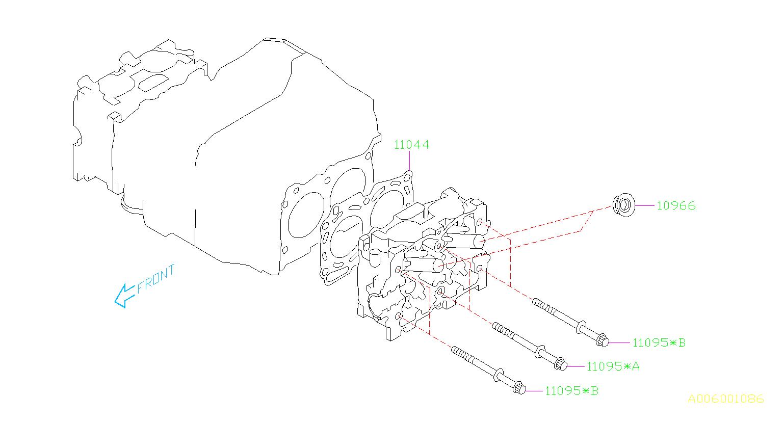 1999 Subaru Legacy 2 2l At 4wd L Wagon Engine Cylinder Head Gasket  System  Cooling