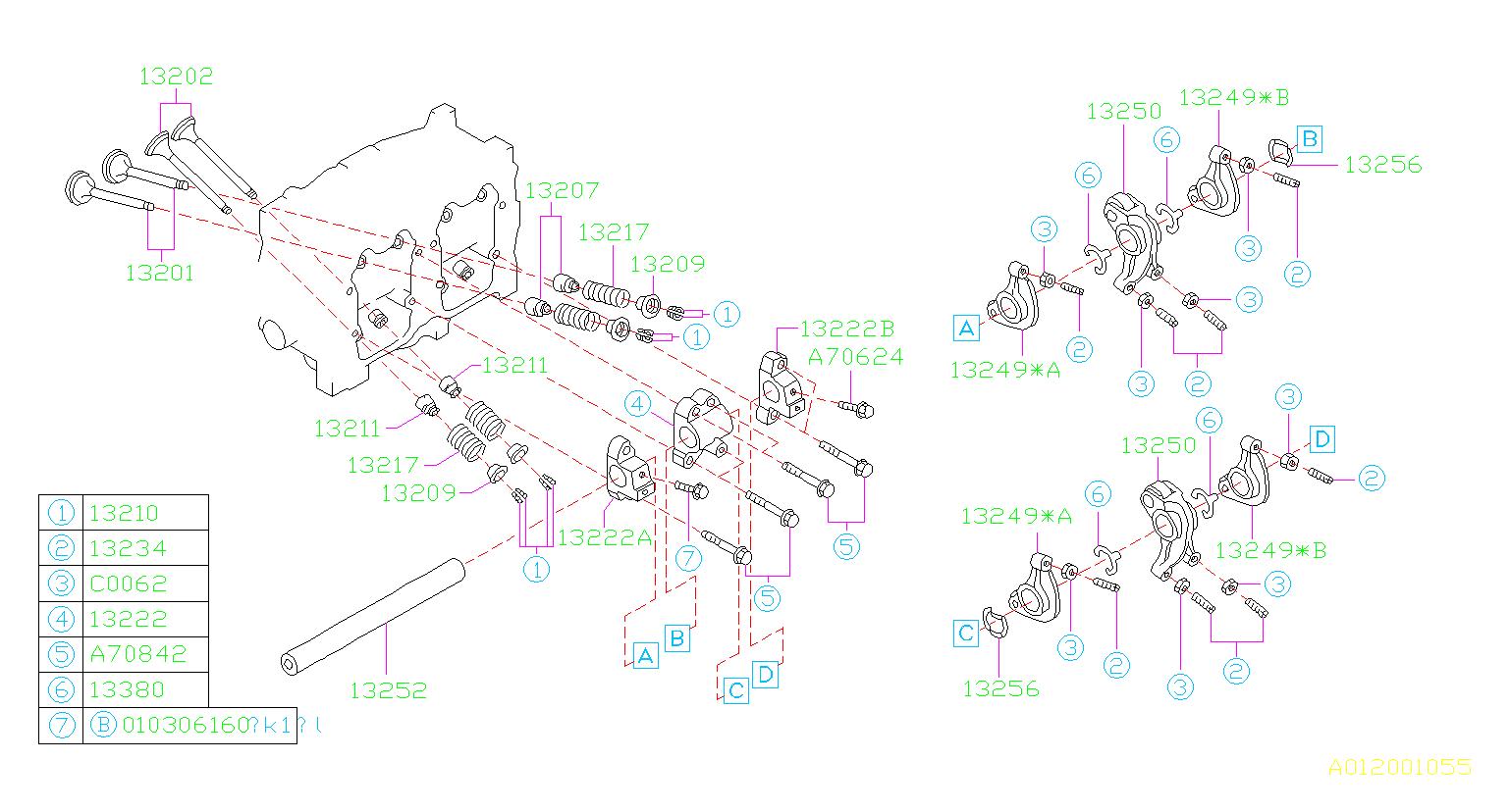 13210aa020 - Collet-valve  Mechanism  Engine