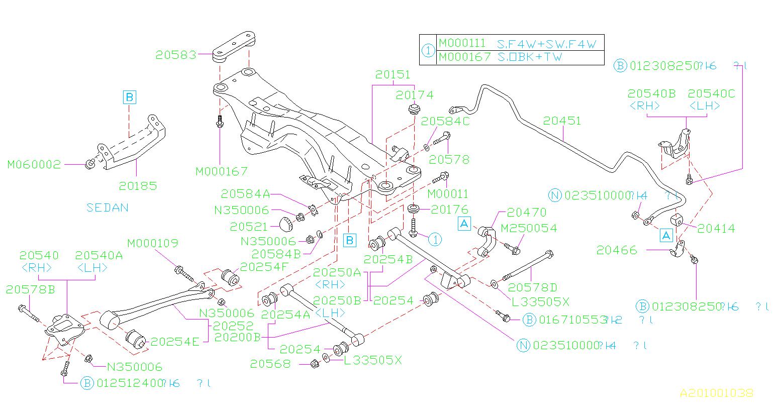 901000110  Flange bolt    Suspension     rear  link  Genuine