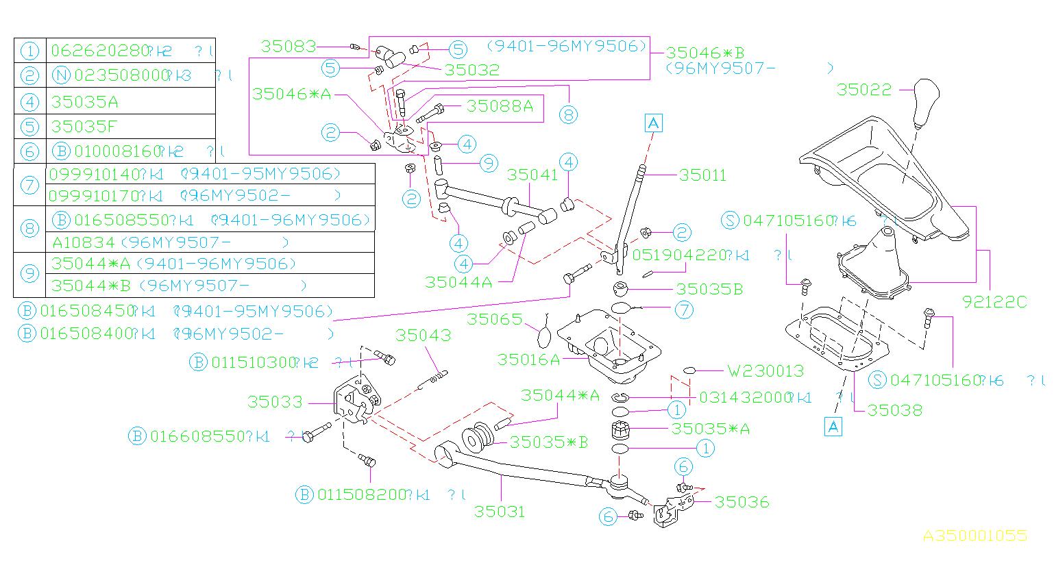 35035AC000  Bushing    Gear     shift  manual  system