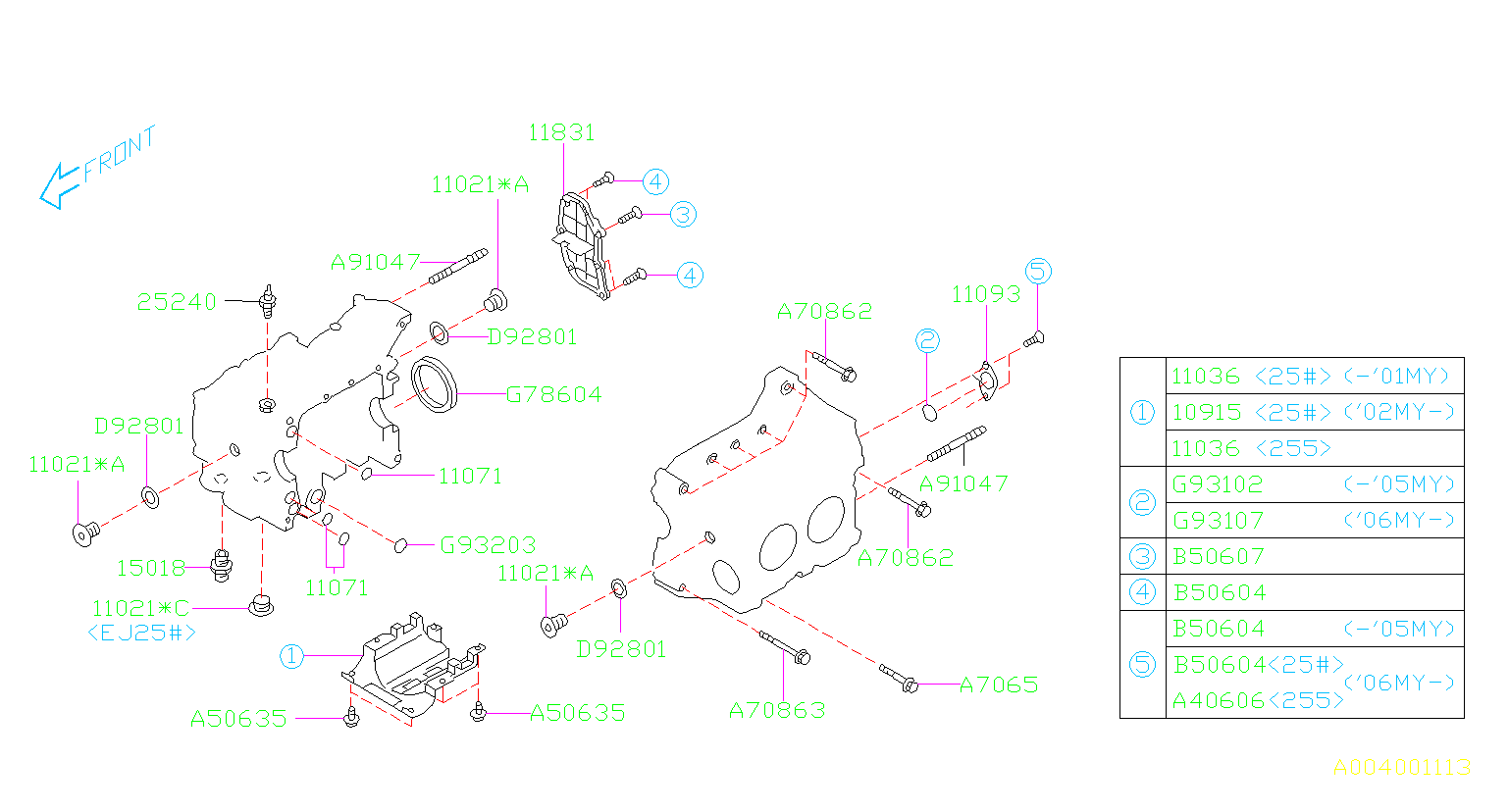 Diagram CYLINDER BLOCK. SYSTEM. for your 2002 Subaru Baja  S PICK UP