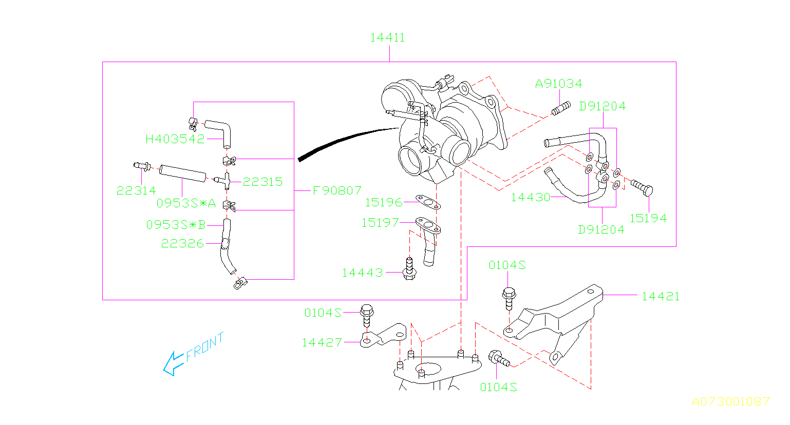 22326ka120 orifice id 1 2 air duct engine cooling Subaru 2 2 Engine Timing Diagram