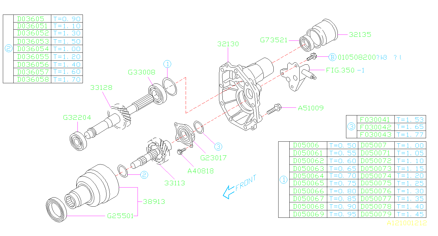 Diagram MT, TRANSFER & EXTENSION. EXTESION M/#452603-. for your 2005 Subaru Baja 2.5L TURBO MT B PICK UP