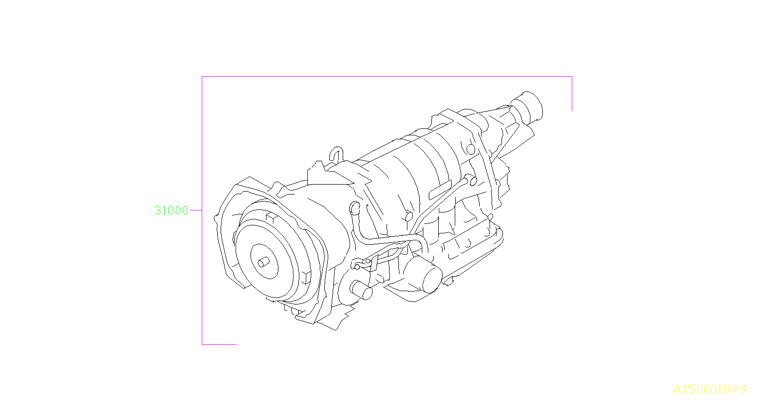 Diagram AT, TRANSMISSION ASSEMBLY. for your Subaru