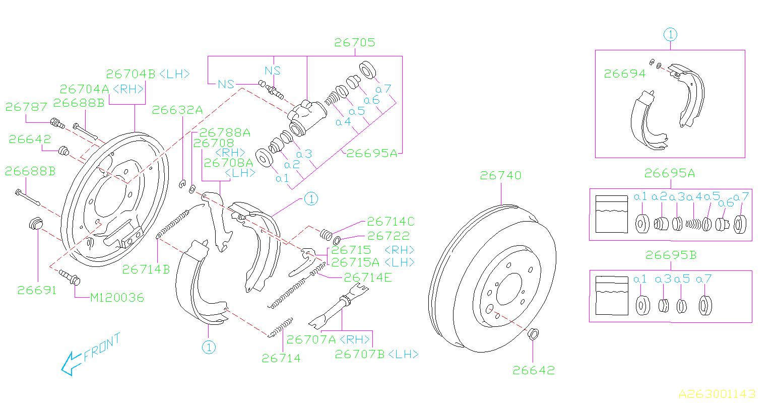 26704ae040 - Brake Splash Guard  Back Plate Brake   Right  Rear