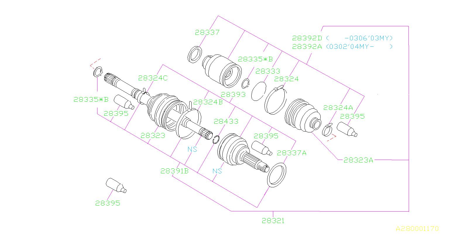28321ae07b - Cv Axle  Front