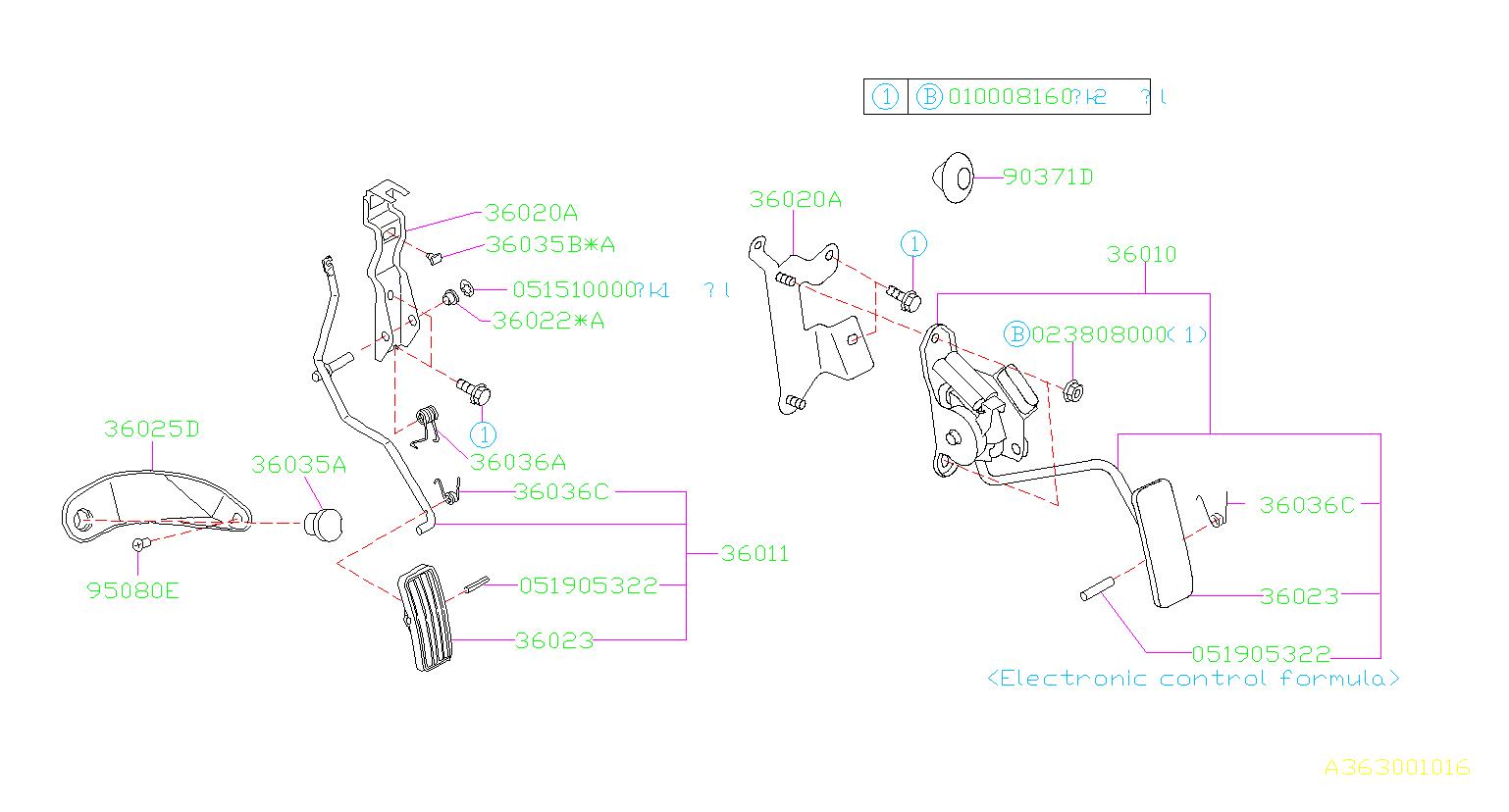 36010ae041 - Accelerator Pedal Sensor