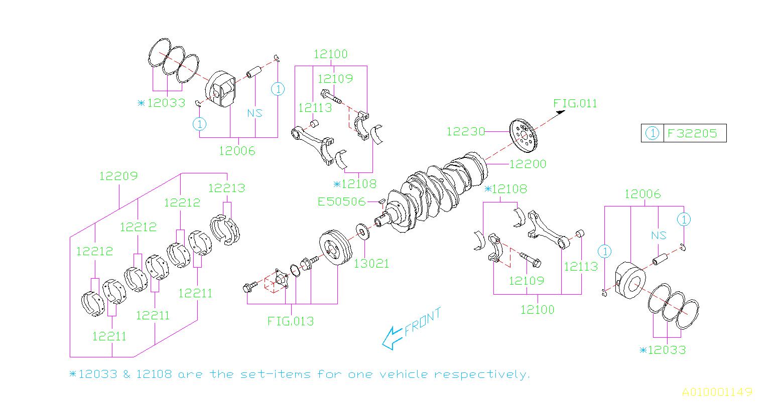 2009 Subaru Legacy Engine Piston - 12006AD210 - Genuine ...