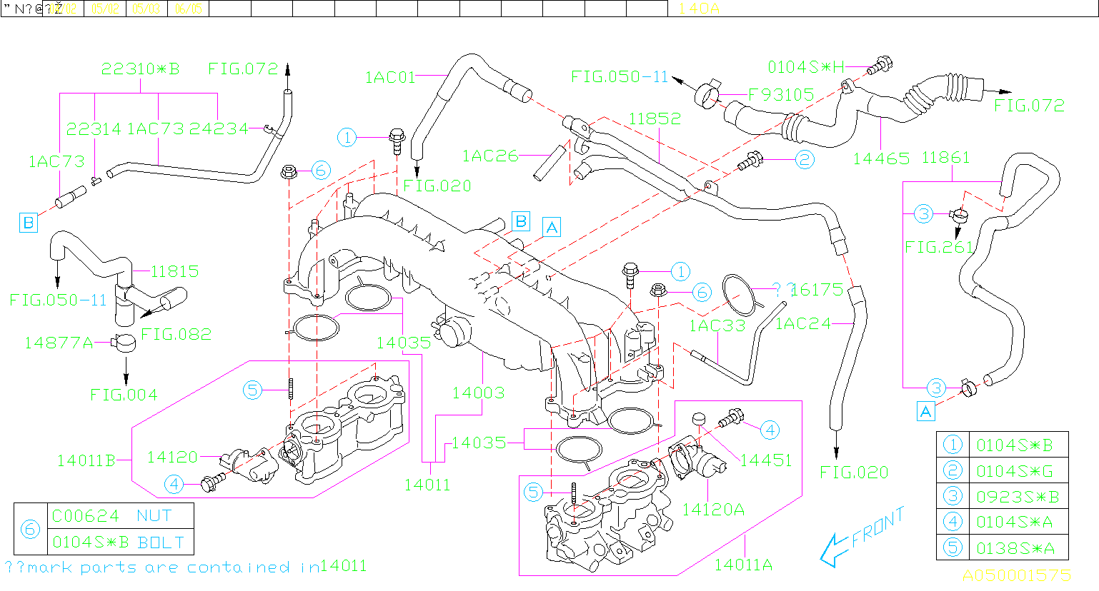 Part 1AC33 seems to connect directly to the BOV and to the intake header  using the small nipple on the left side of the intake manifold. If that's  the case, ...