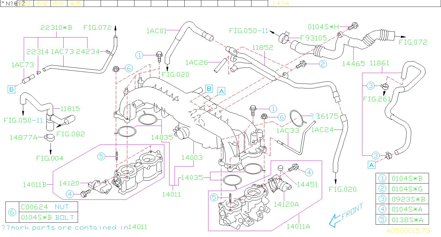 14120AA051 - Idle Speed Control Motor. Motor Intake ...