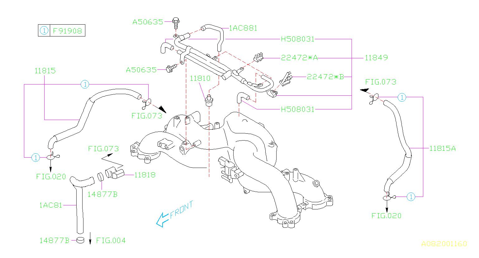 99071AC881  Hosevacuum Pcv  maintenance  emission