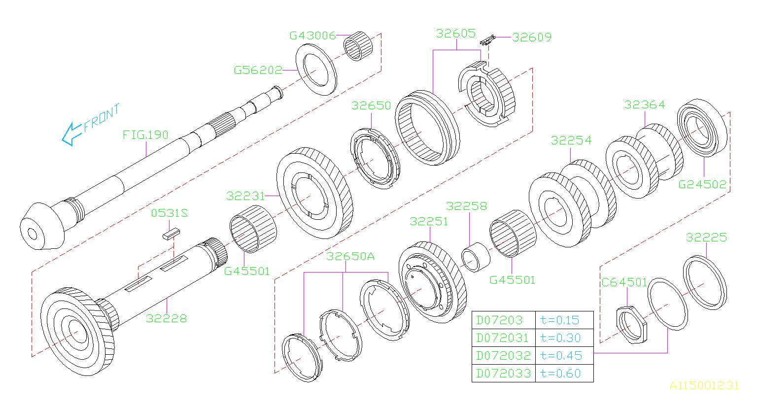 806562020 - Thrust Bearring  Thrust Bearing 62x82x3 6  Transmission  Shaft  Pinion