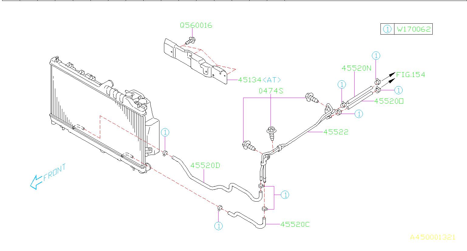 45520ag01a - hose-a t f  engine  cooling  cooler