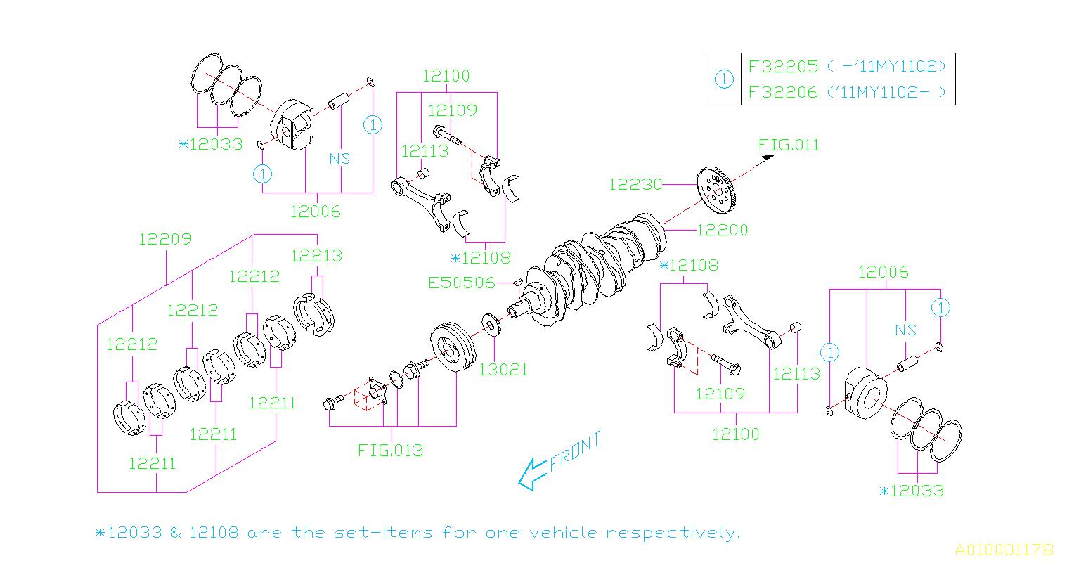 12108ab100 bearing set connecting rod crankshaft. Black Bedroom Furniture Sets. Home Design Ideas
