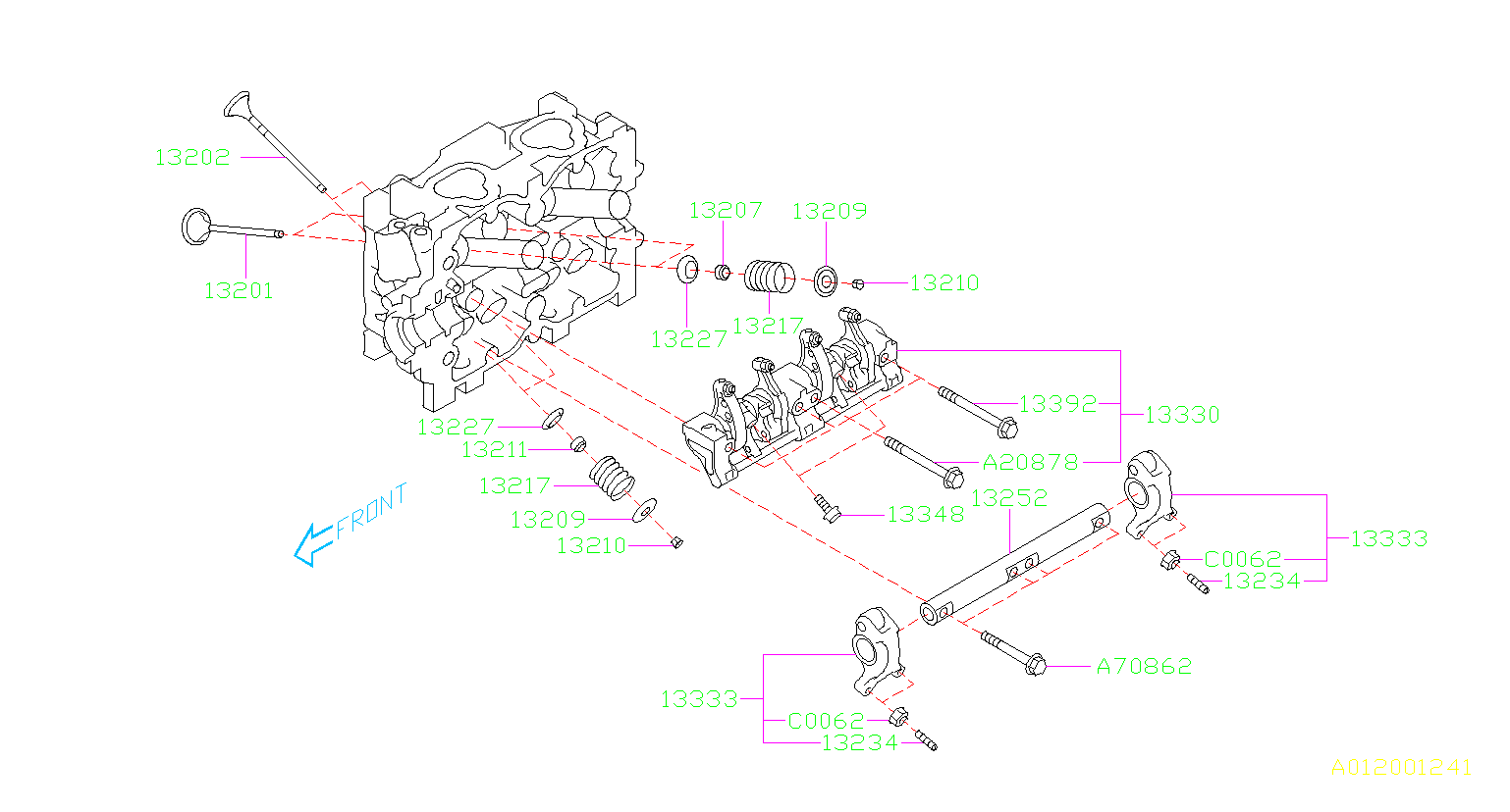 13333AA020  Rocker sub assemblyvalve   exhaust    Mechanism