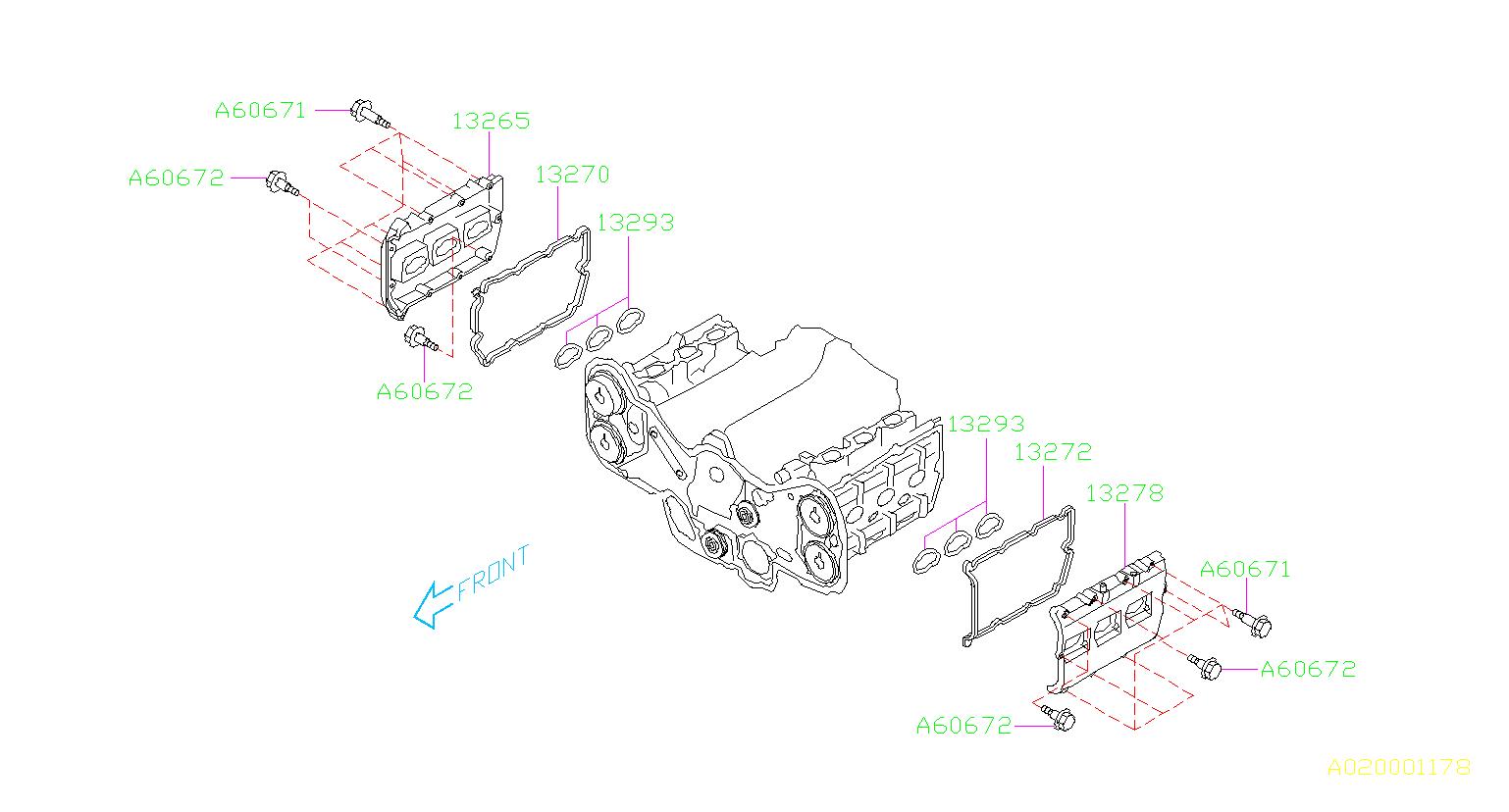 800606710 - bolt -e   751143  cover  rocker  engine  cooling