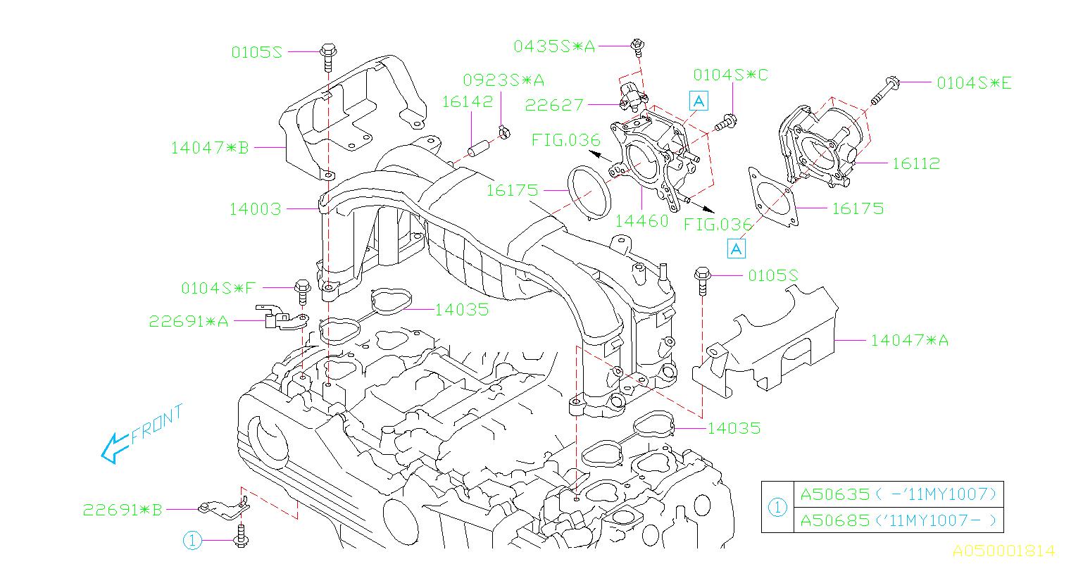 2010 Subaru Outback 2 5l Cvt Limited Manifold Absolute