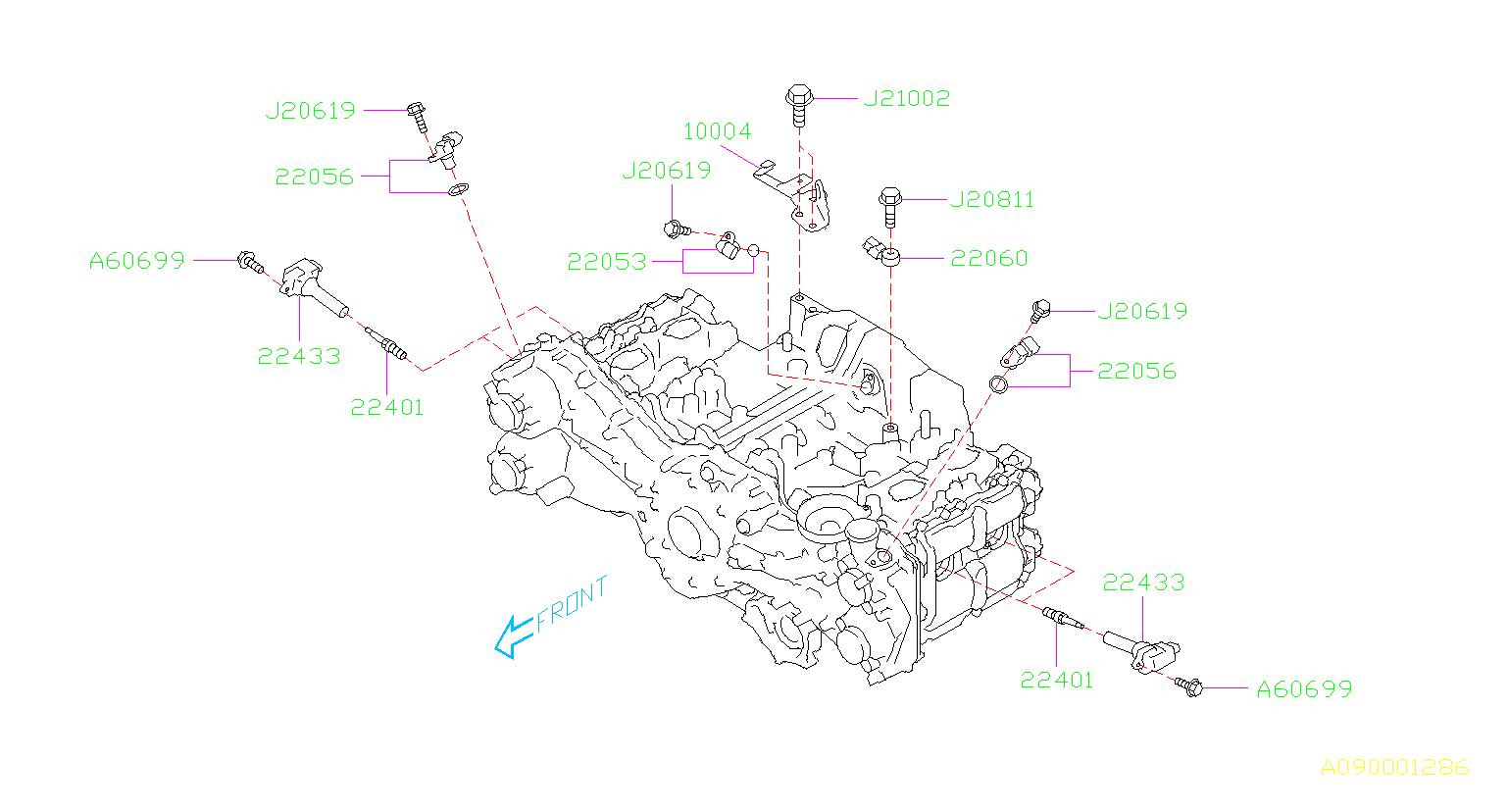 2013 Subaru Outback 2 5l 6mt Premium Direct Ignition Coil  Cord  High  Plug
