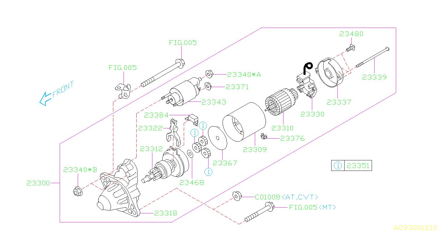 23300aa61a - Starter Motor  Engine