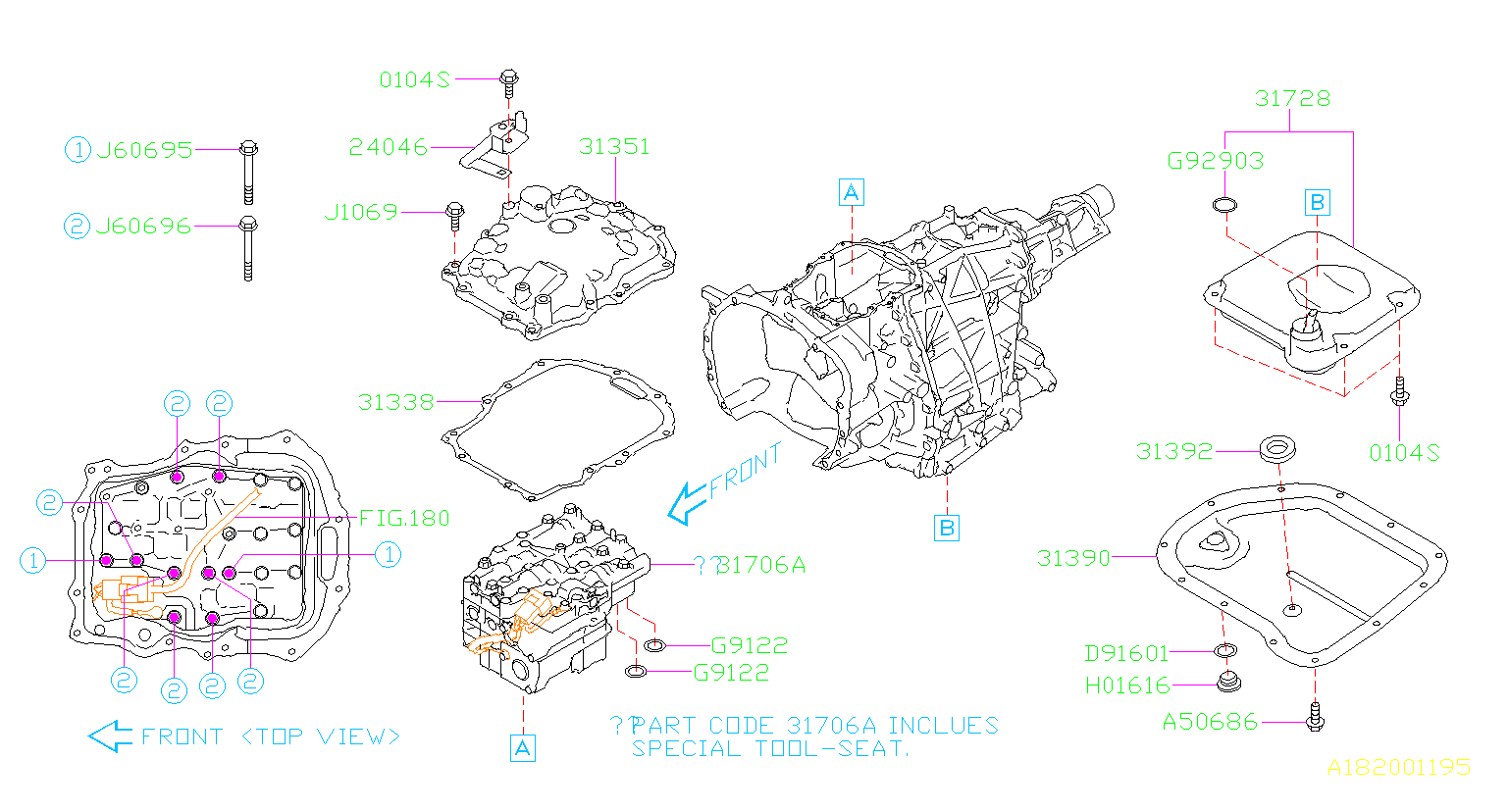 Diagram AT, CONTROL VALVE. '13MY-. for your 2012 Subaru Outback