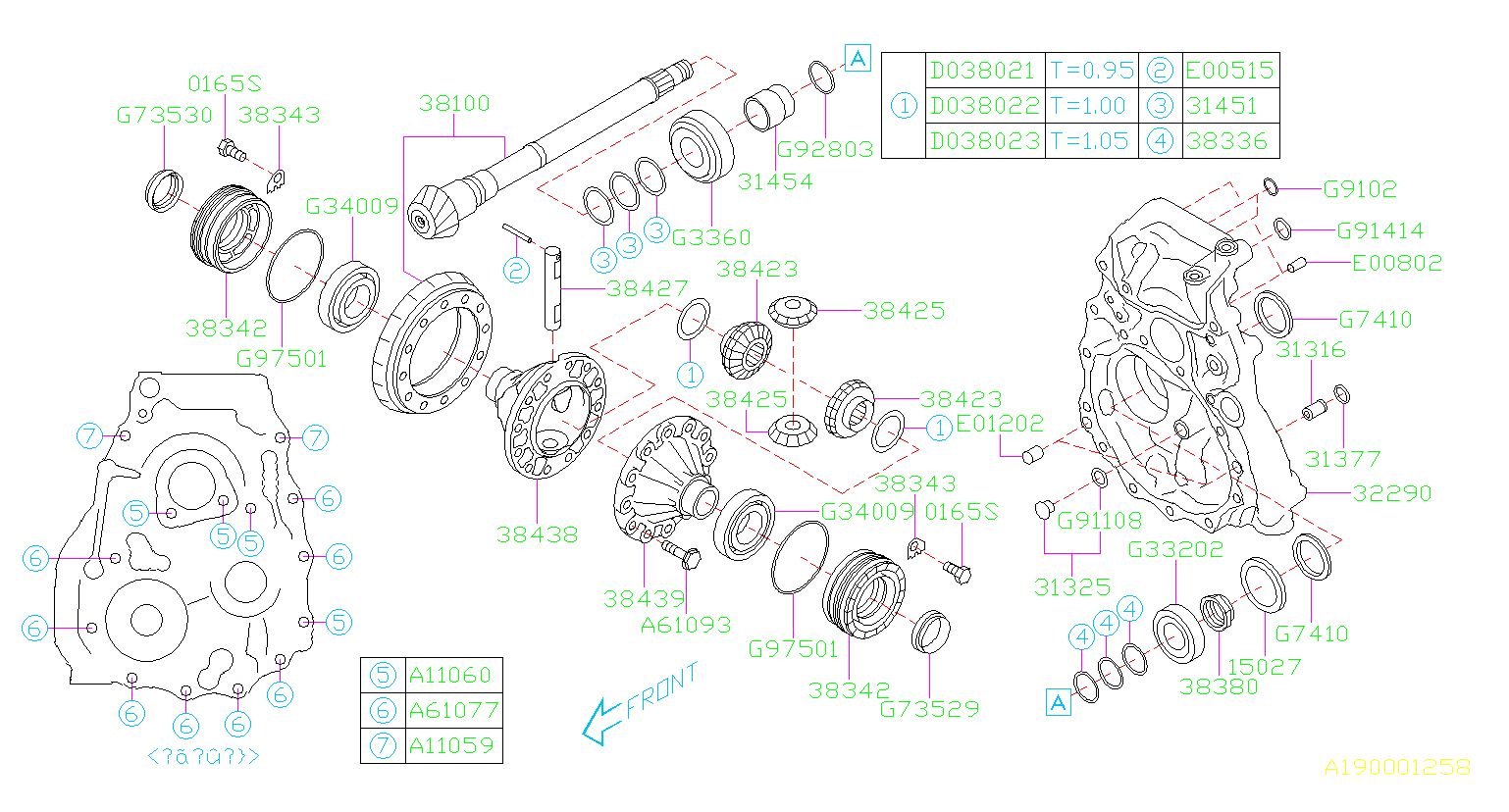 Diagram DIFFERENTIAL (TRANSMISSION). '13MY-. for your Subaru