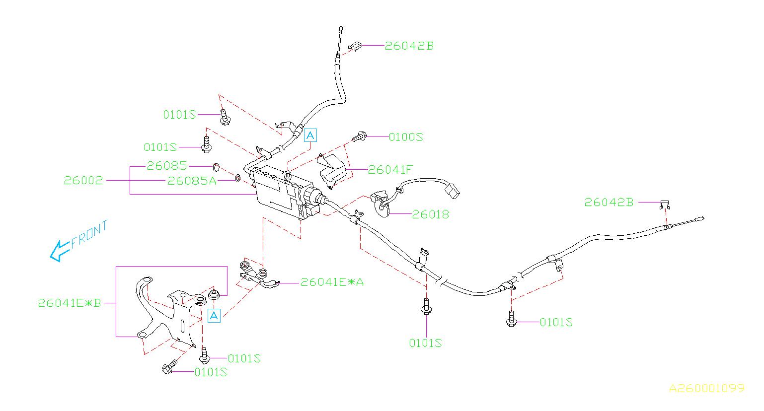 26002aj01c - Parking Brake Cable