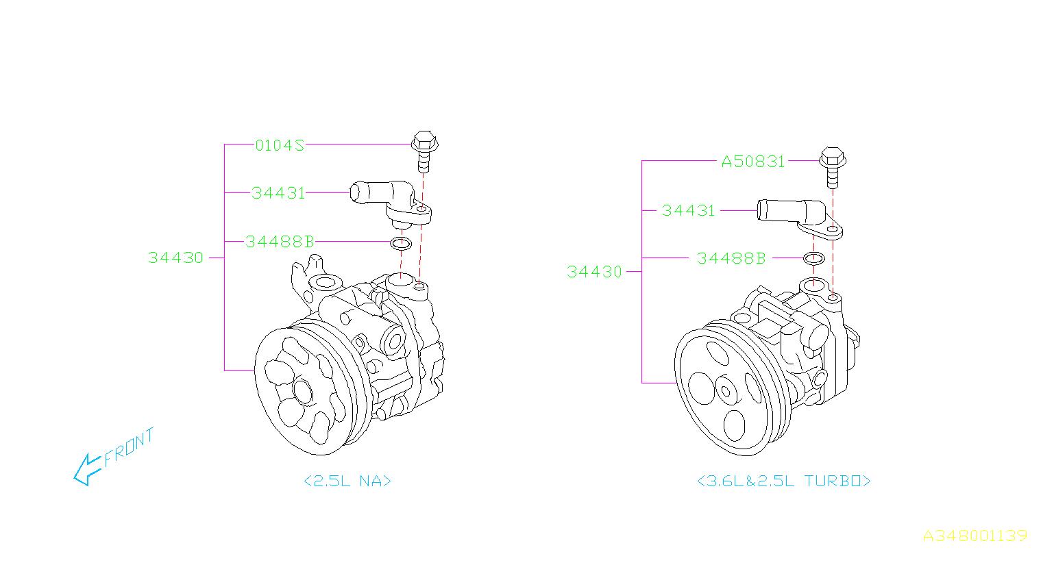 34430aj071 - Power Steering Pump
