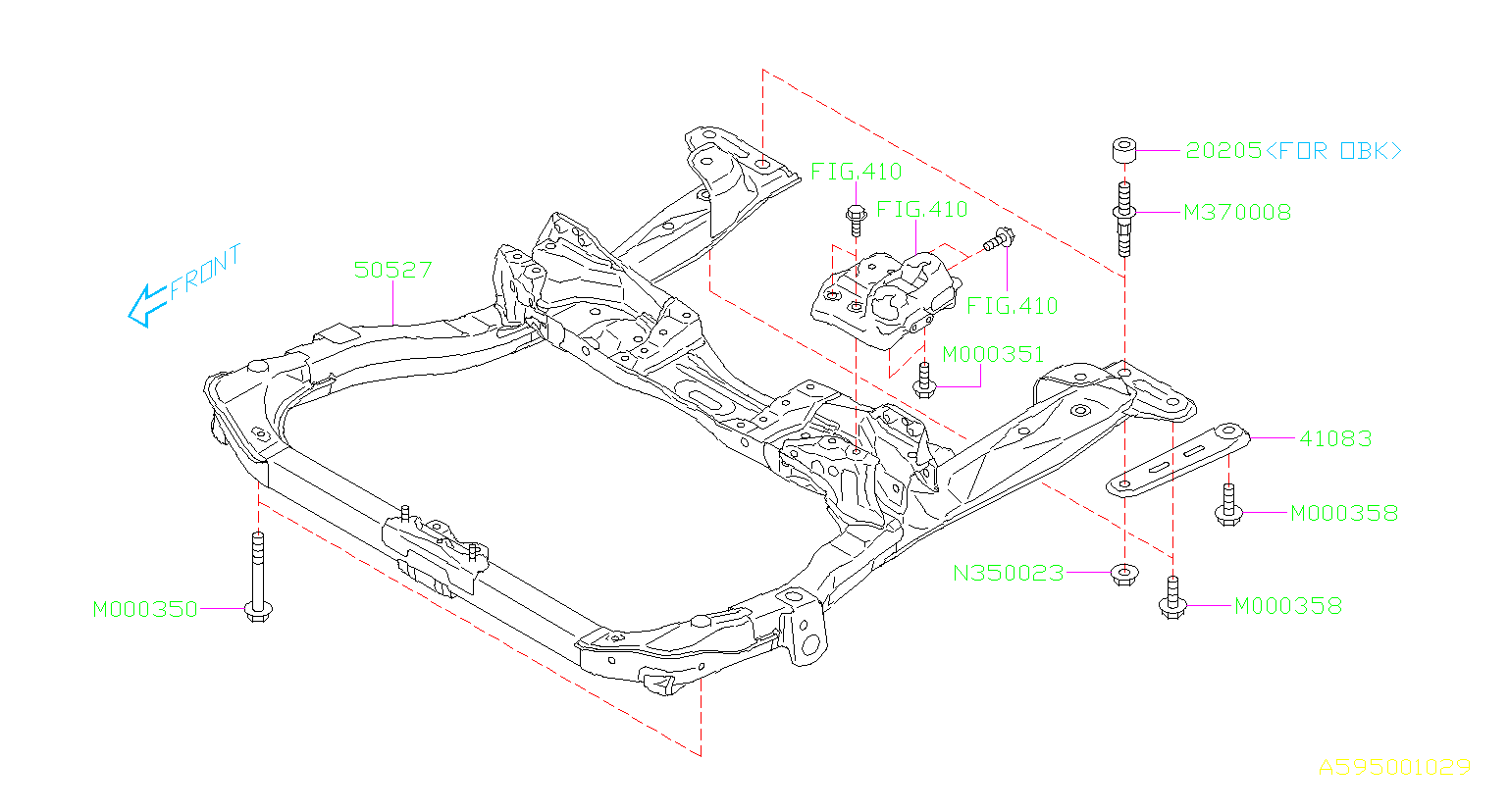 50527aj01a - engine cradle  frame complete cradle  cradle frm cp obk