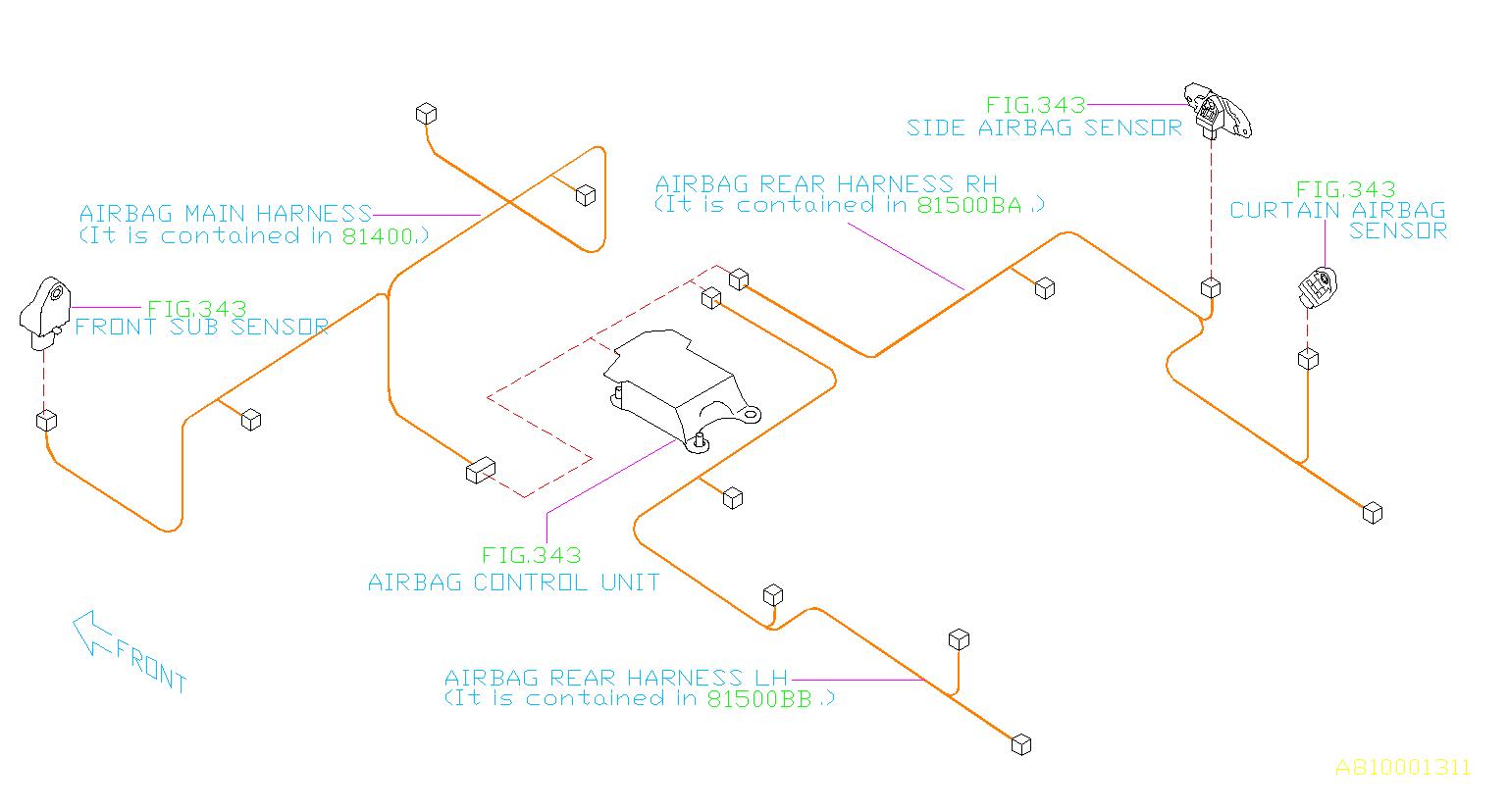 81403aj60a - Harness-bulkhead  Main  Wiring