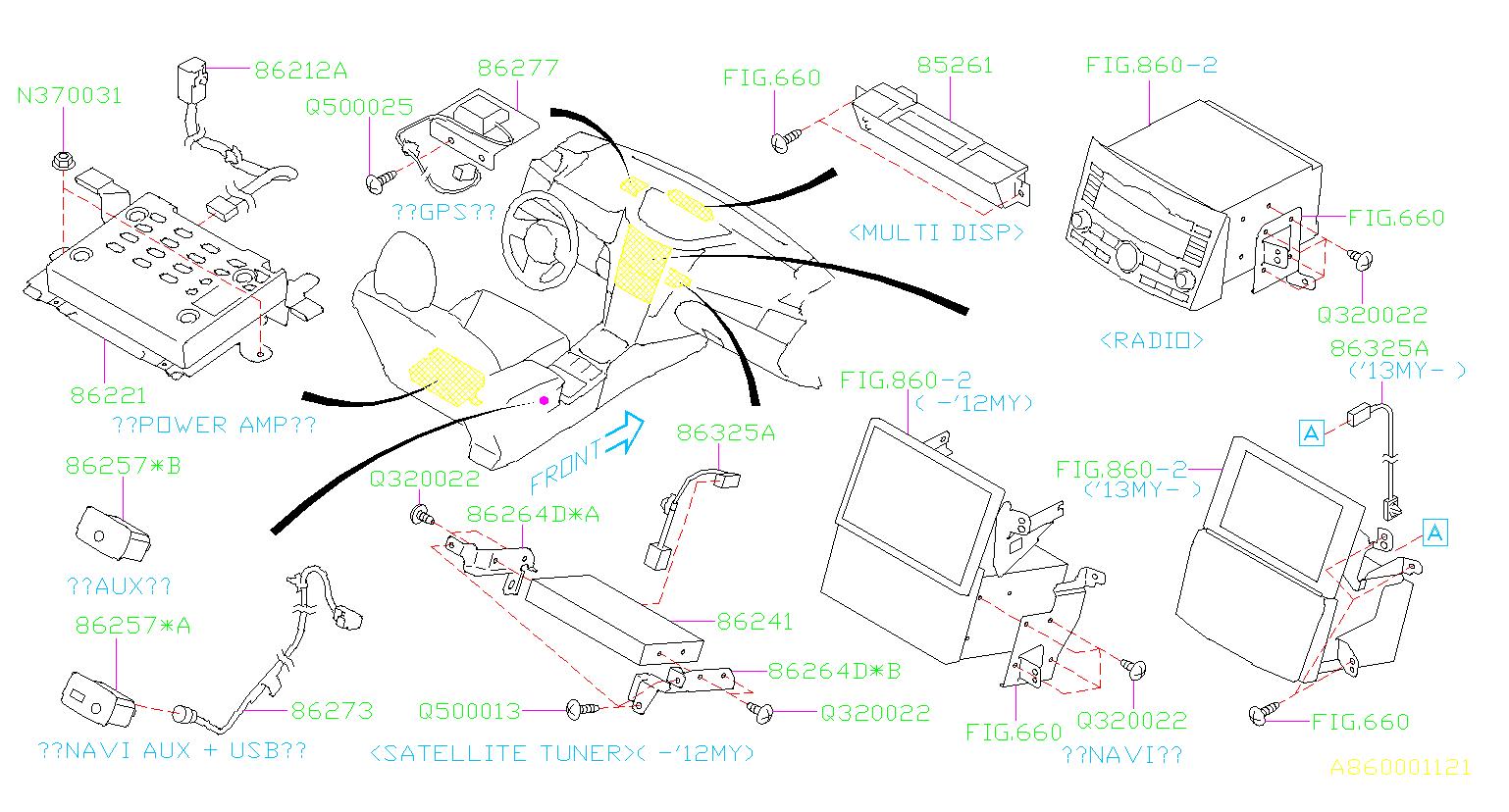 86325AJ42A - Radio Wiring Harness - Genuine Subaru Part