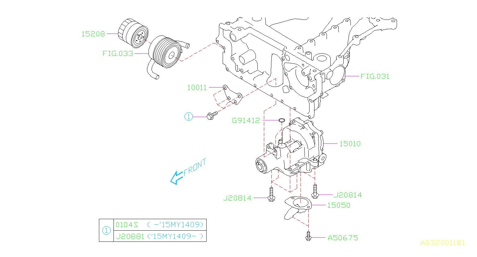 Diagram OIL PUMP & FILTER. for your Subaru