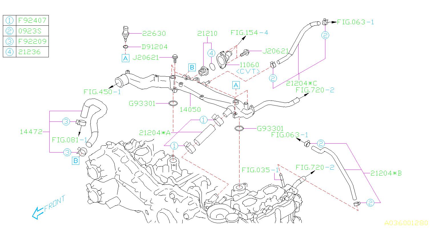 2015 Subaru Legacy 2.5L CVT 4WD Premium Sedan Engine ...