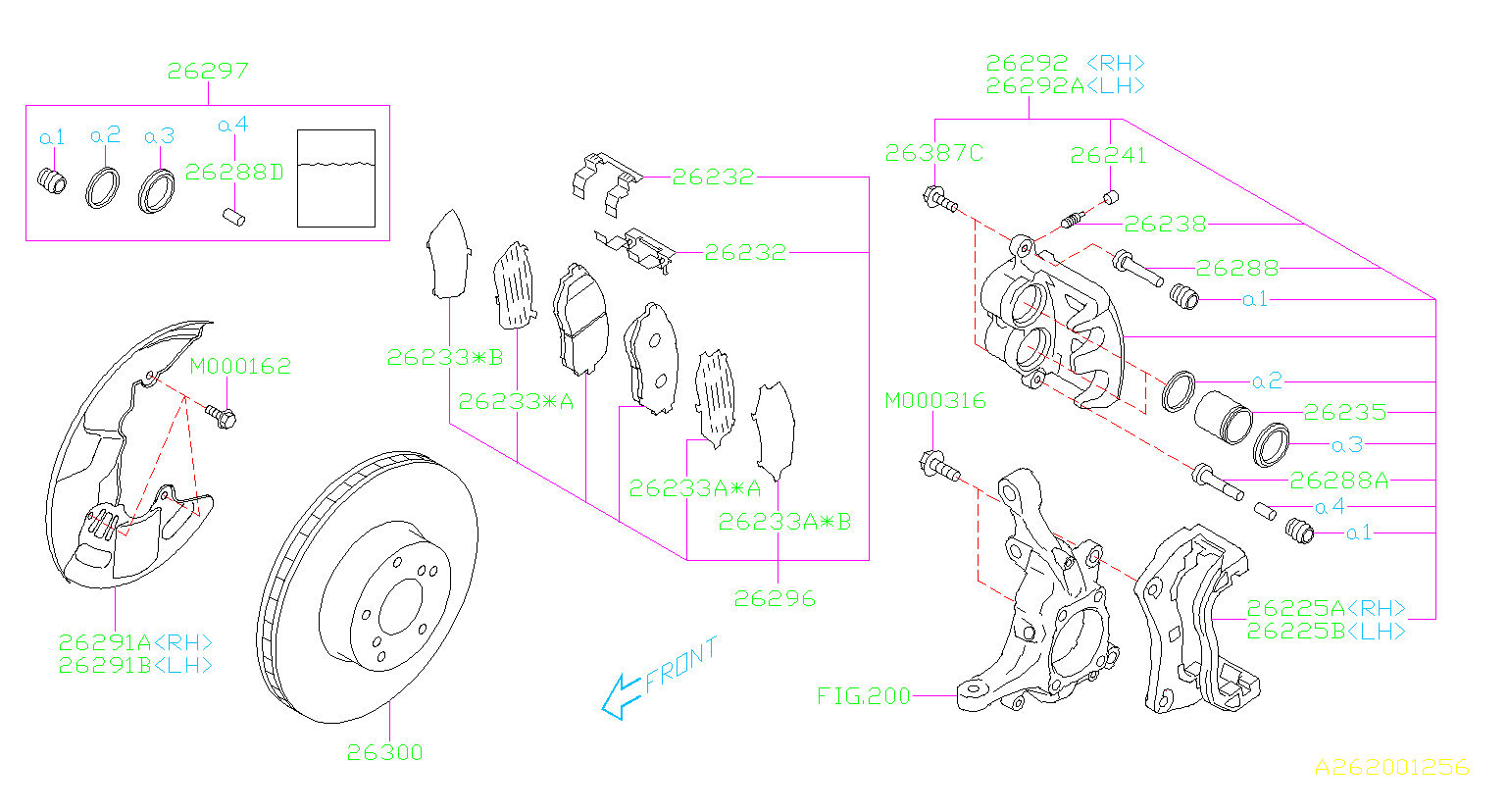 Subaru Outback Disc Brake Pad Set  Front   Brembo