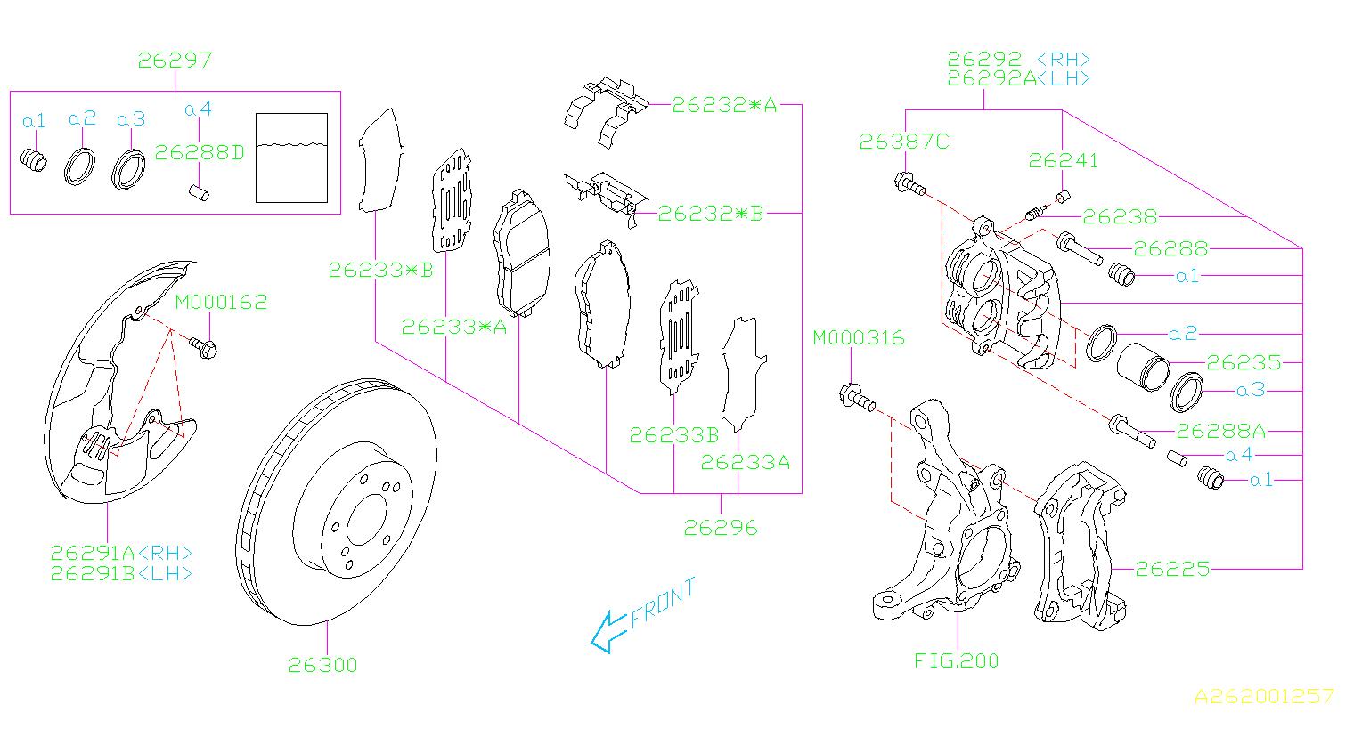 2015 Subaru Legacy Disc Brake Rotor  Front