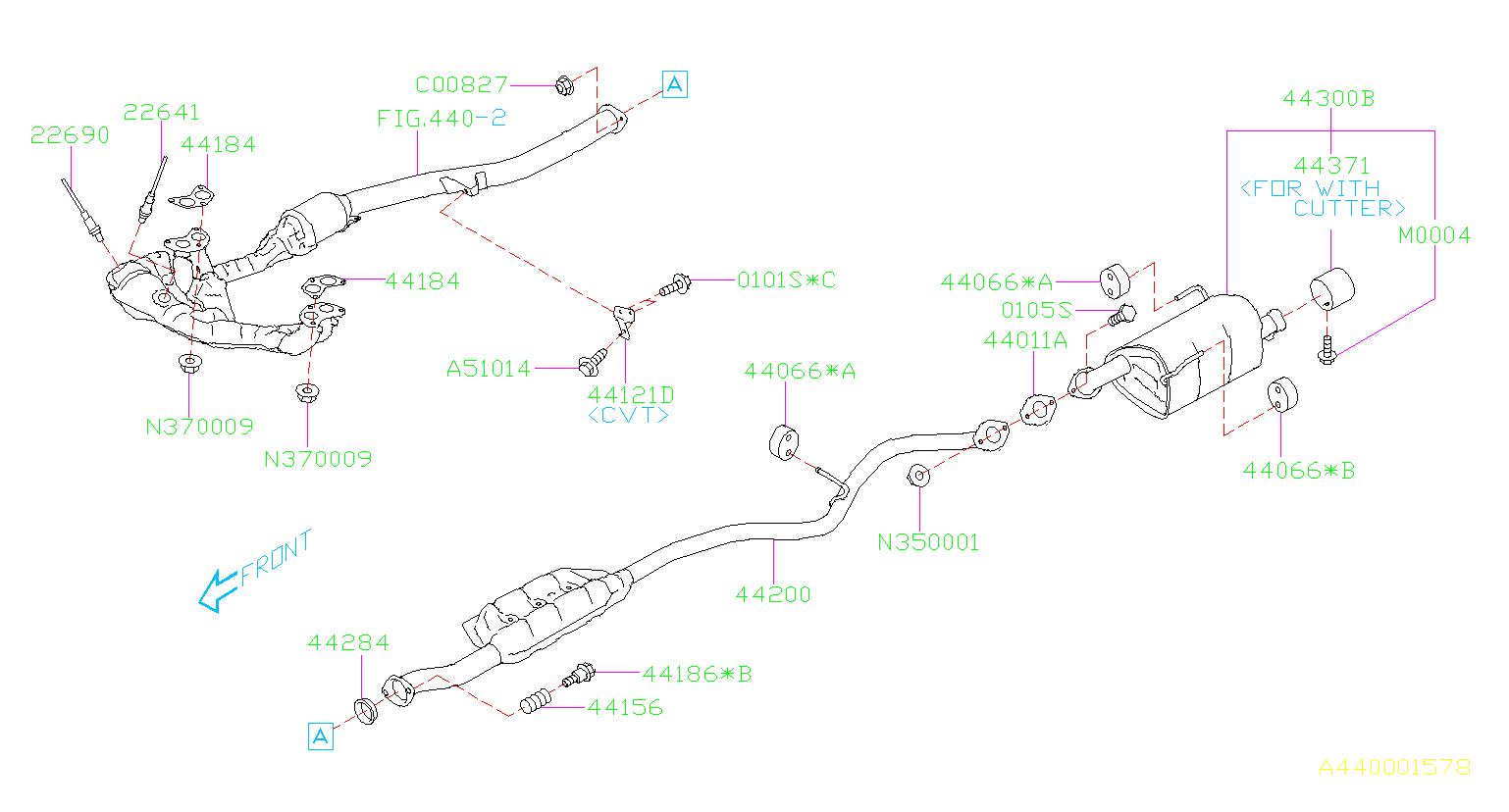 44200al01a - Exhaust Pipe  Rear
