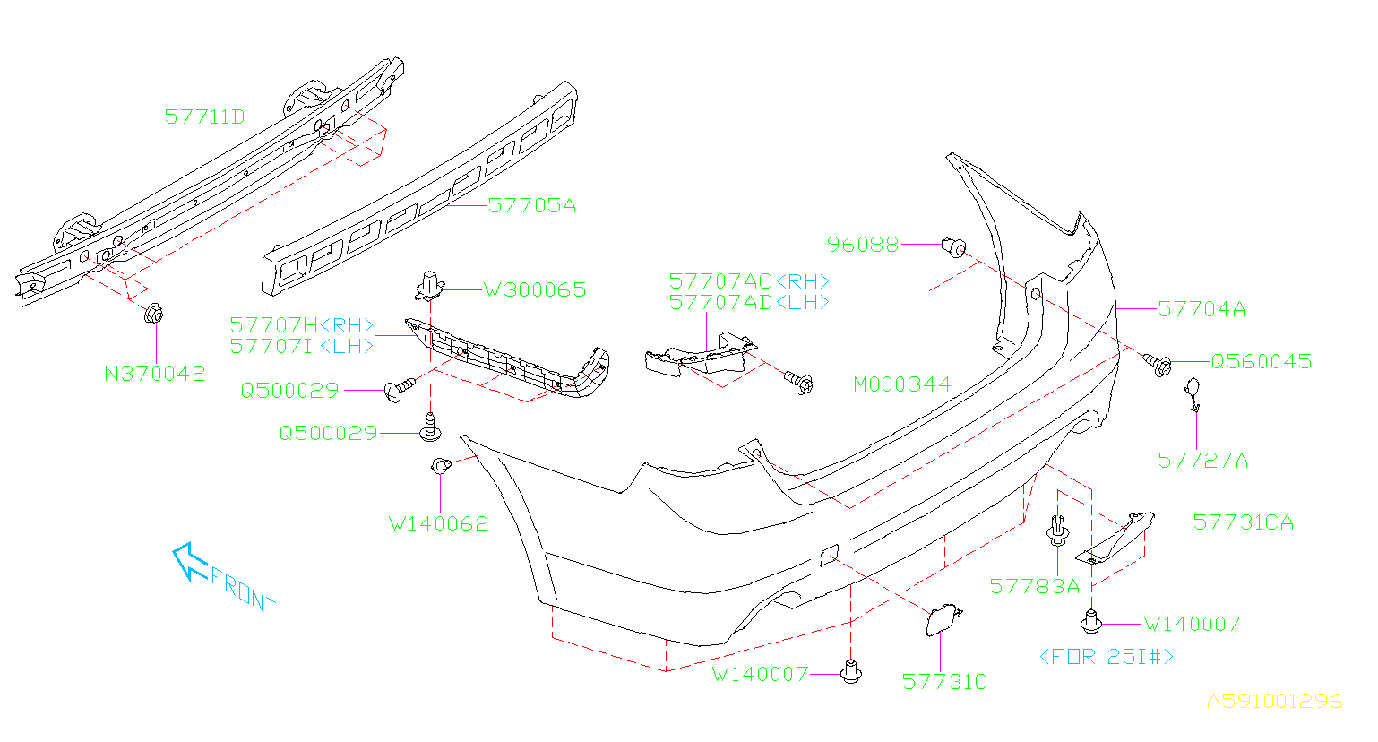 Diagram REAR BUMPER. -'17MY. for your Subaru