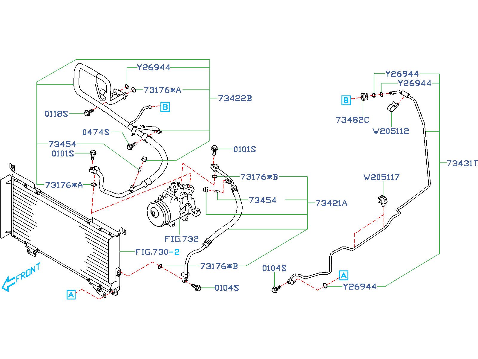 Subaru Outback Pipe Evaporator  Cooling - 73431al07a
