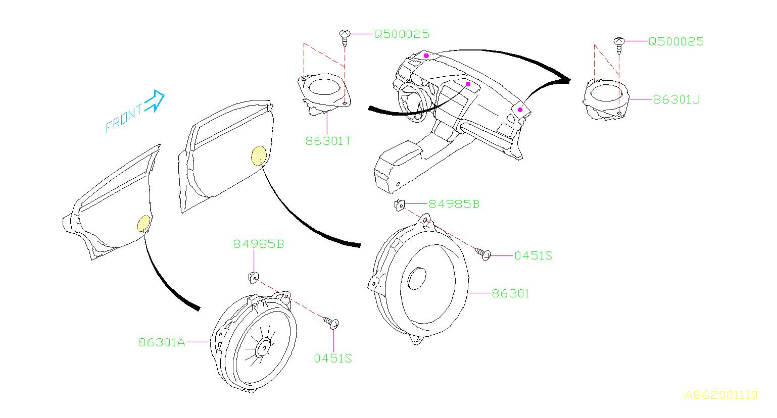 86301AL72A - Speaker - Genuine Subaru Part