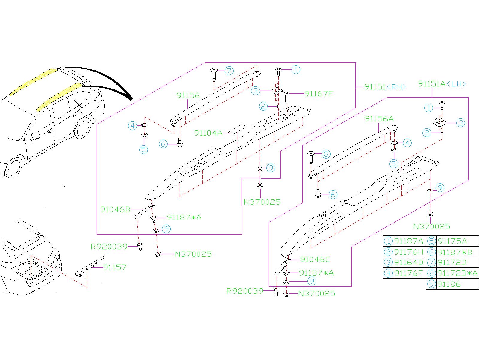 2001 Subaru Outback Parts Diagram