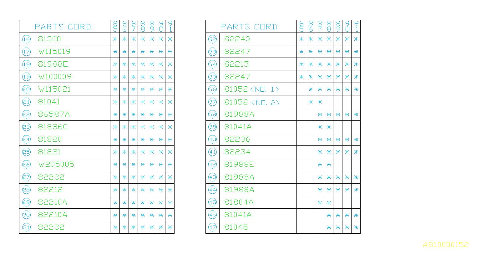 82301ga060 fusible link box  main  harness genuine 1995 volvo 850 fuse box