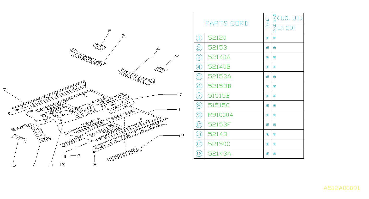 52153PA100 likewise Suzuki Verona Transmission Parts Diagram as well 132 2 besides Chrysler Crossfire Parts Diagram besides Coolant Temperature Sensor How Work. on subaru svx parts diagram