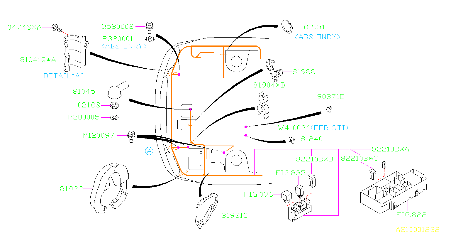81045ae000 - Cap  Wiring  Main  Harness