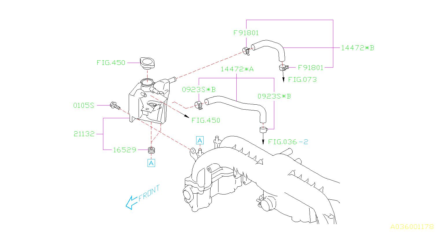 14472aa040 - Hose Assembly-water  Maintenance