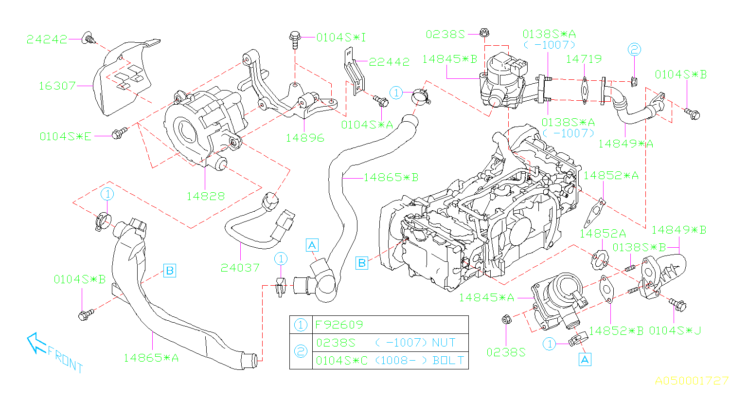 14828aa050 - Secondary Air Injection Pump