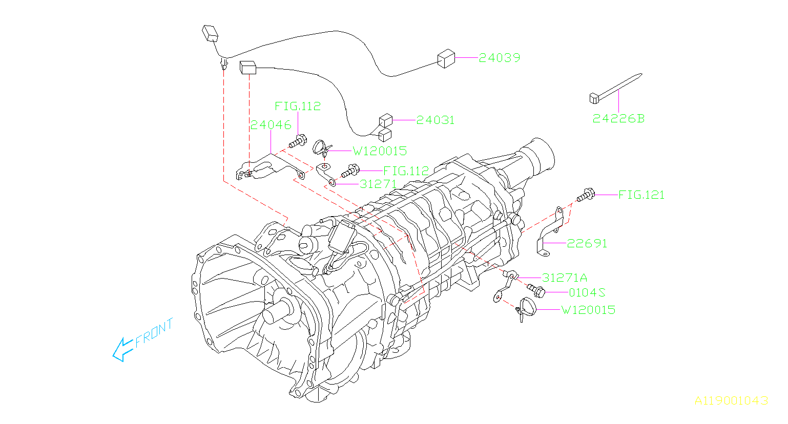 24031aa480 - Harness Transmission  Manual