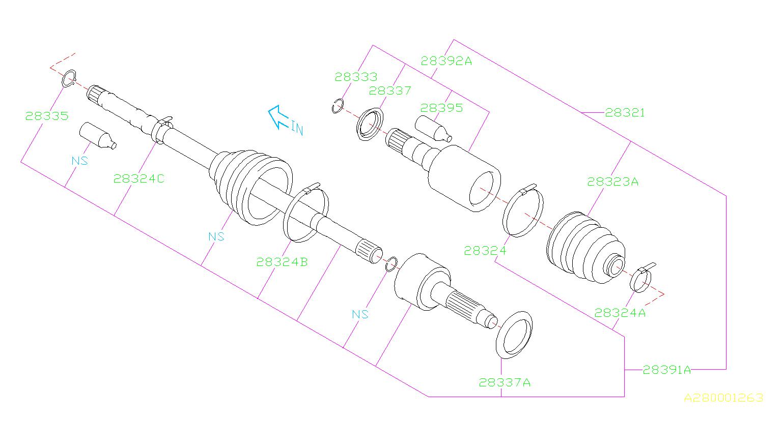 28321fj020 - Cv Axle  Front